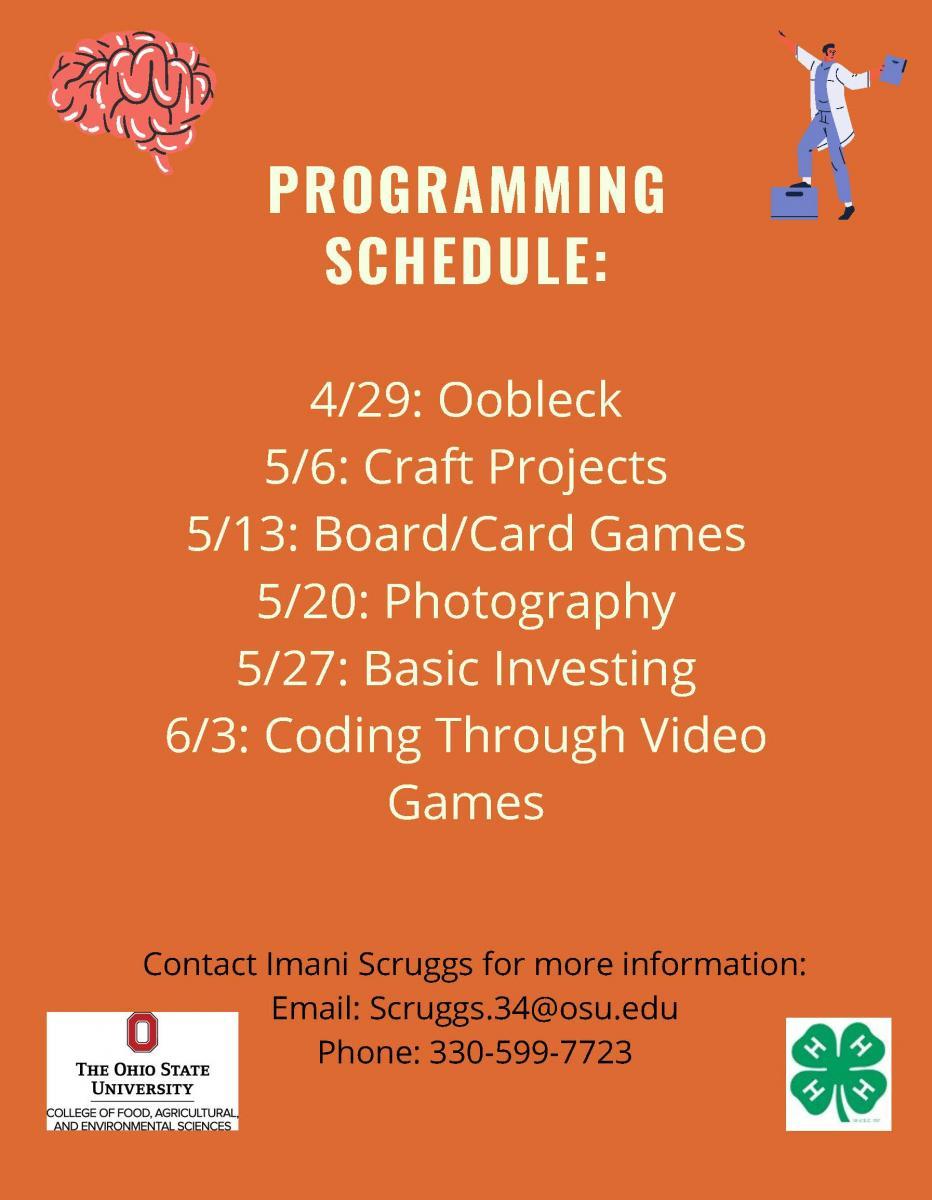 Programming schedule